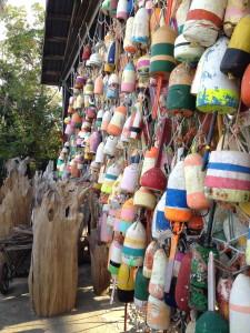 buoys on display -- Appalachicola FL
